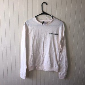 H&M Stay Positive Long Sleeve Sweater